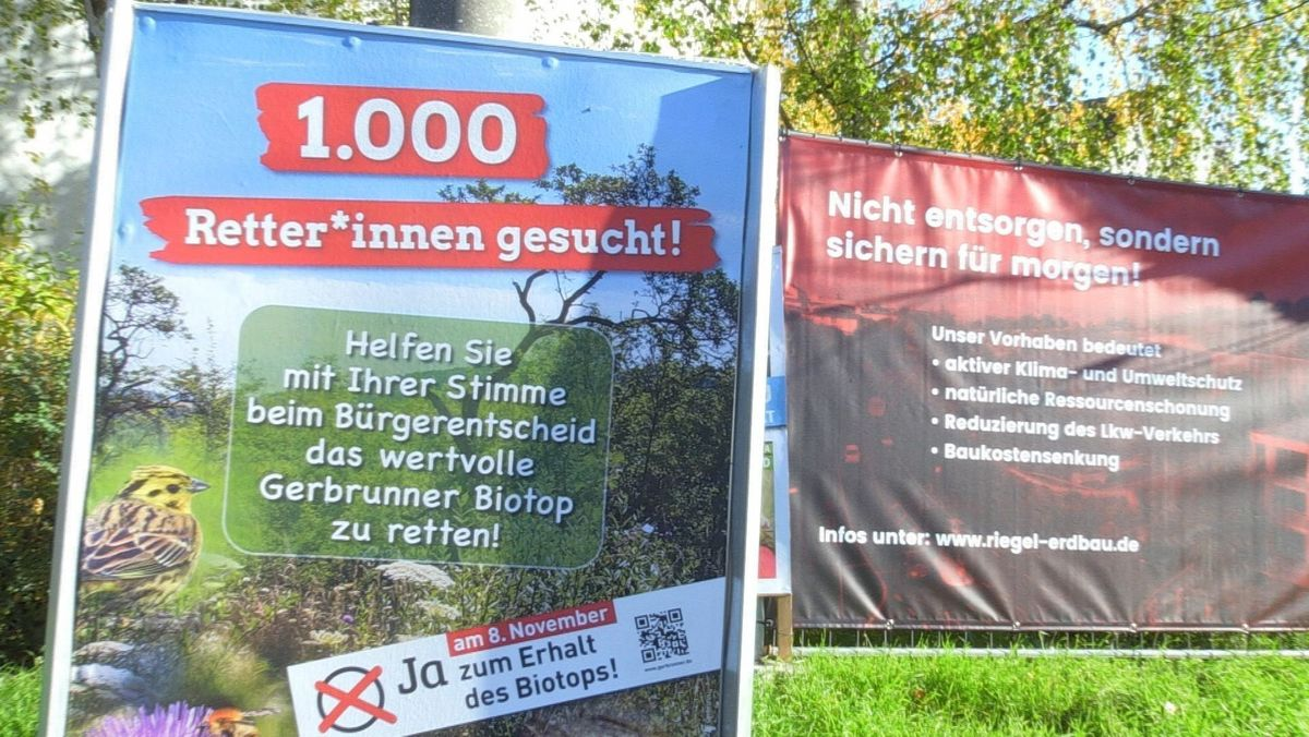 Industriegebiet statt Biotop: Bürgerentscheid in Gerbrunn