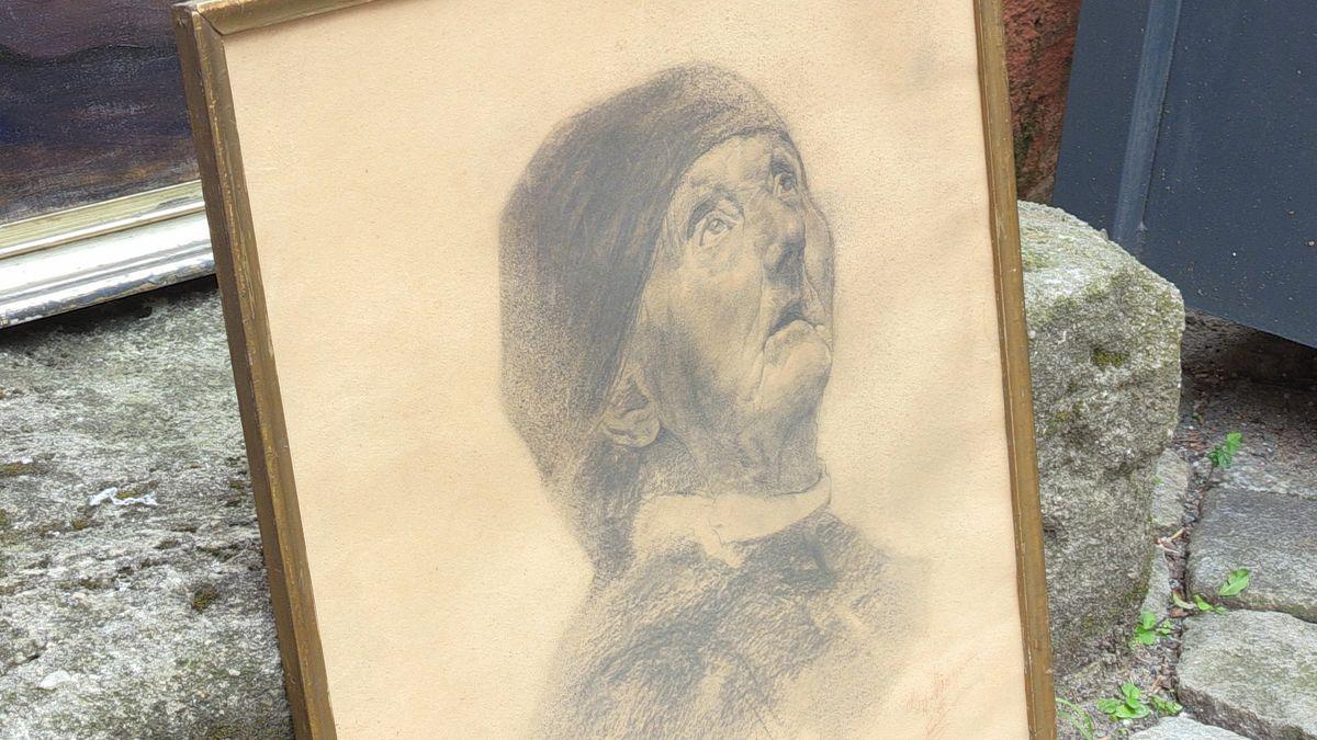 Das Bild von der alten Frau zeichnete der Maler Georg Mayer-Franken mit 15 Jahren.