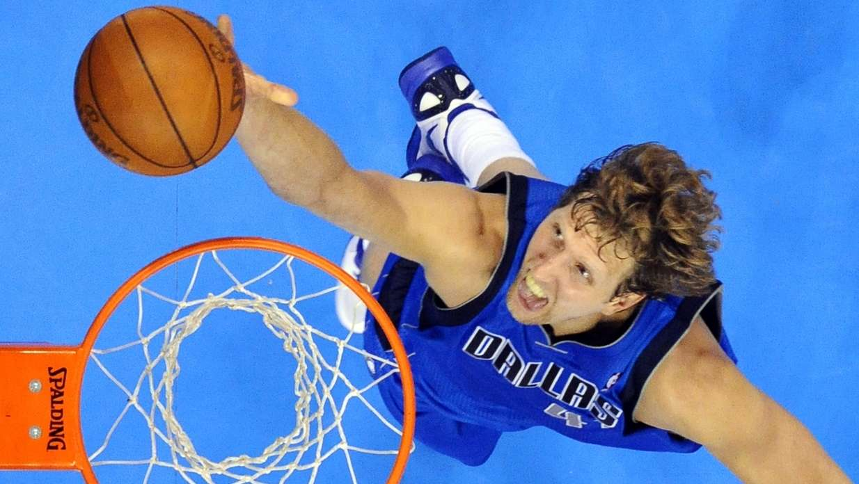 Dirk Nowitzki in Aktion