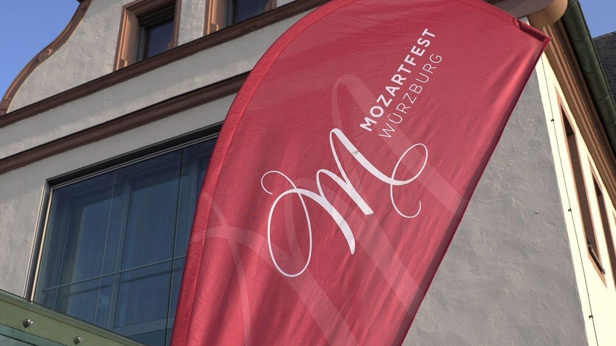 Aufsteller zum Mozartfest in Würzburg