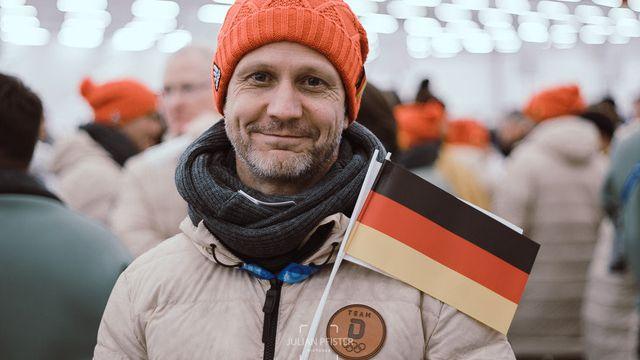 Stefan Schwarz bei der Eröffnungsfeier der Olympischen Winterspiele 2018.