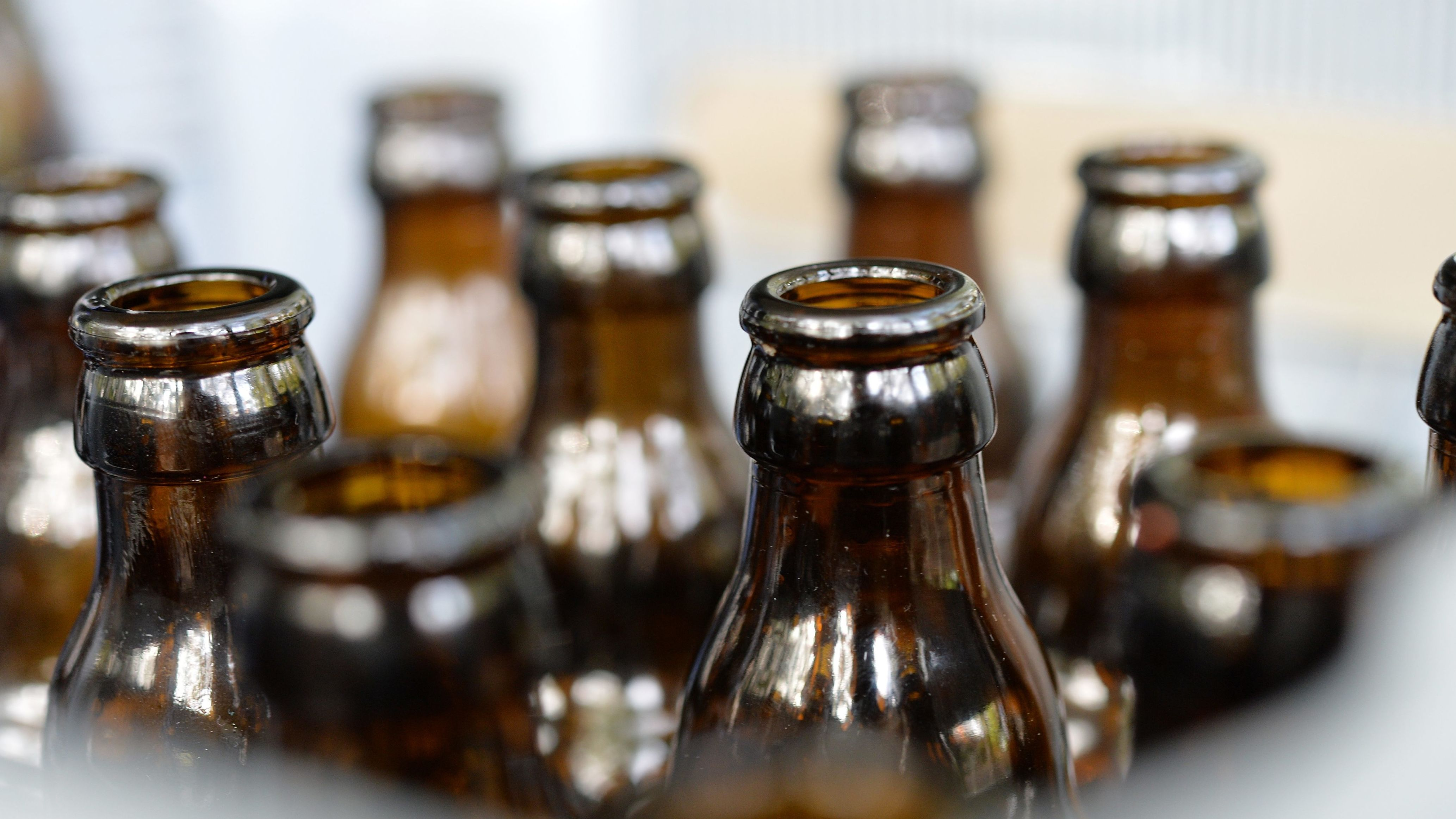 Bierflaschen im Kasten
