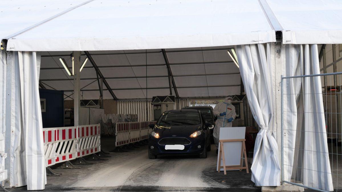 Corona-Testzentrum auf der Würzburger Talavera