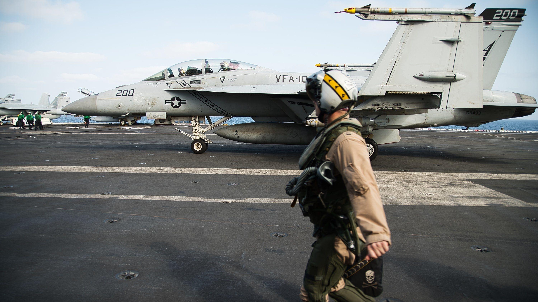Der US-Flugzeugträger USS Abraham Lincoln im Arabischen Meer
