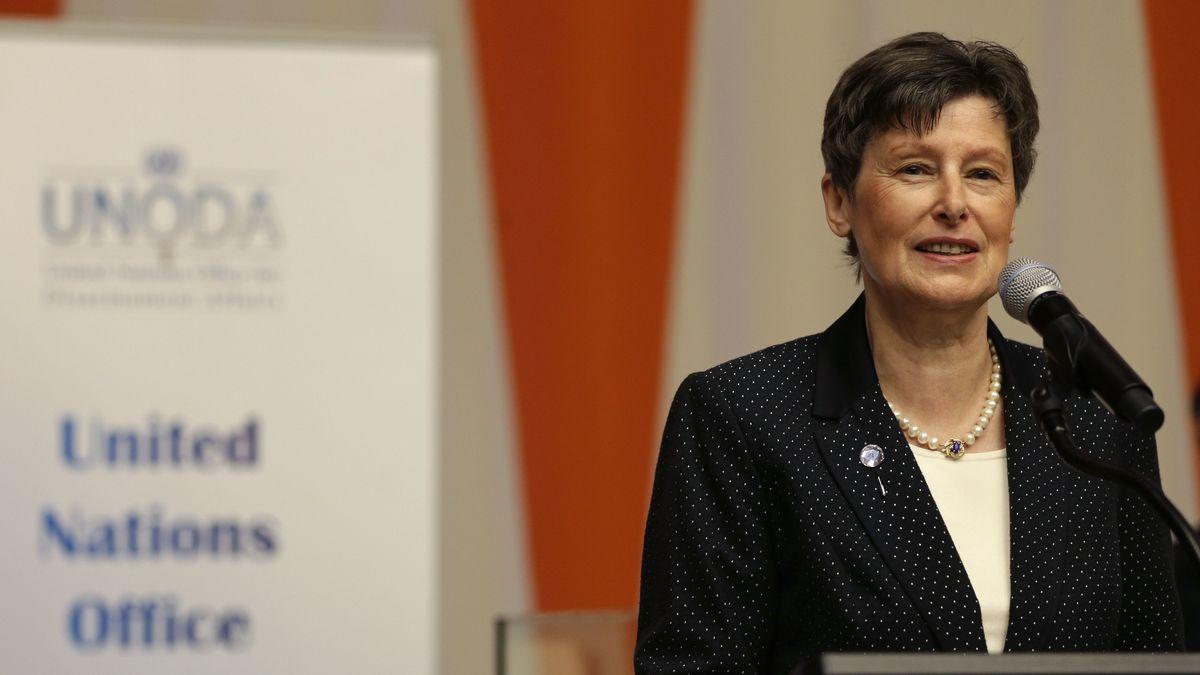 Angela Kane im Jahr 2015, damals Hohe Repräsentantin der UN für Abrüstungsfragen