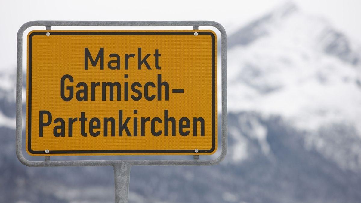 Ortsschild von Garmisch-Partenkirchen
