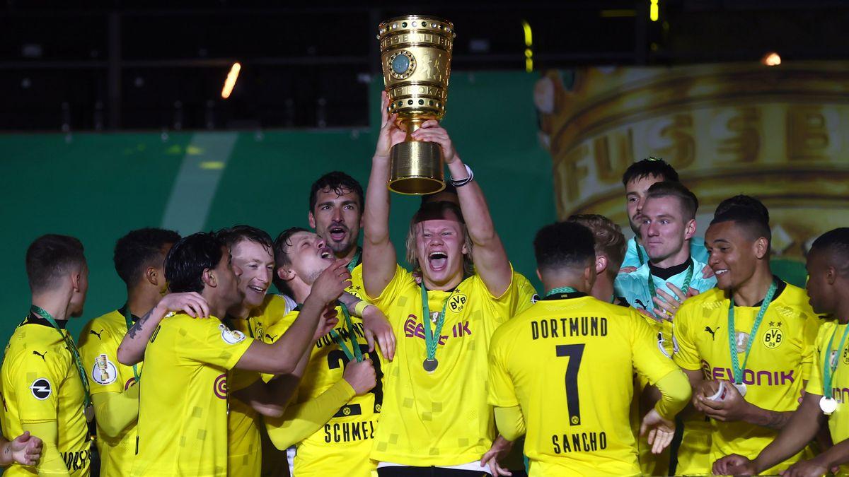 Borussia Dortmund feiert den DFB-Pokal-Sieg