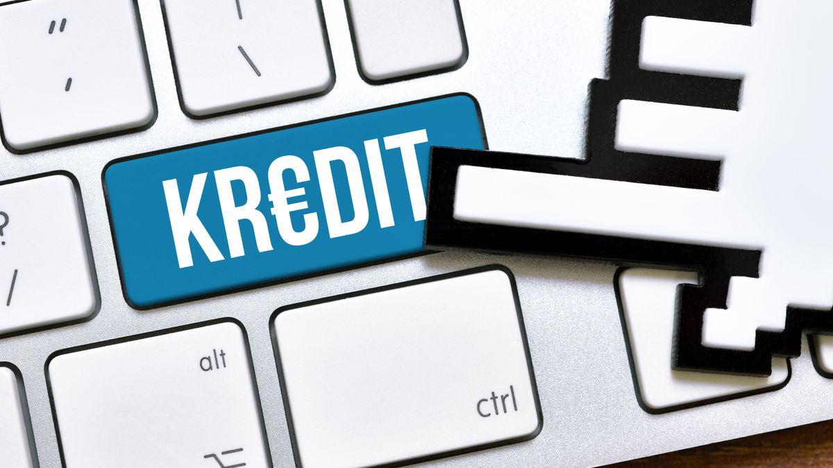 Computertaste mit der Aufschrift Kredit