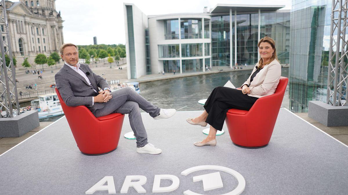 Christian Lindner (FDP) im Sommerinterview der ARD