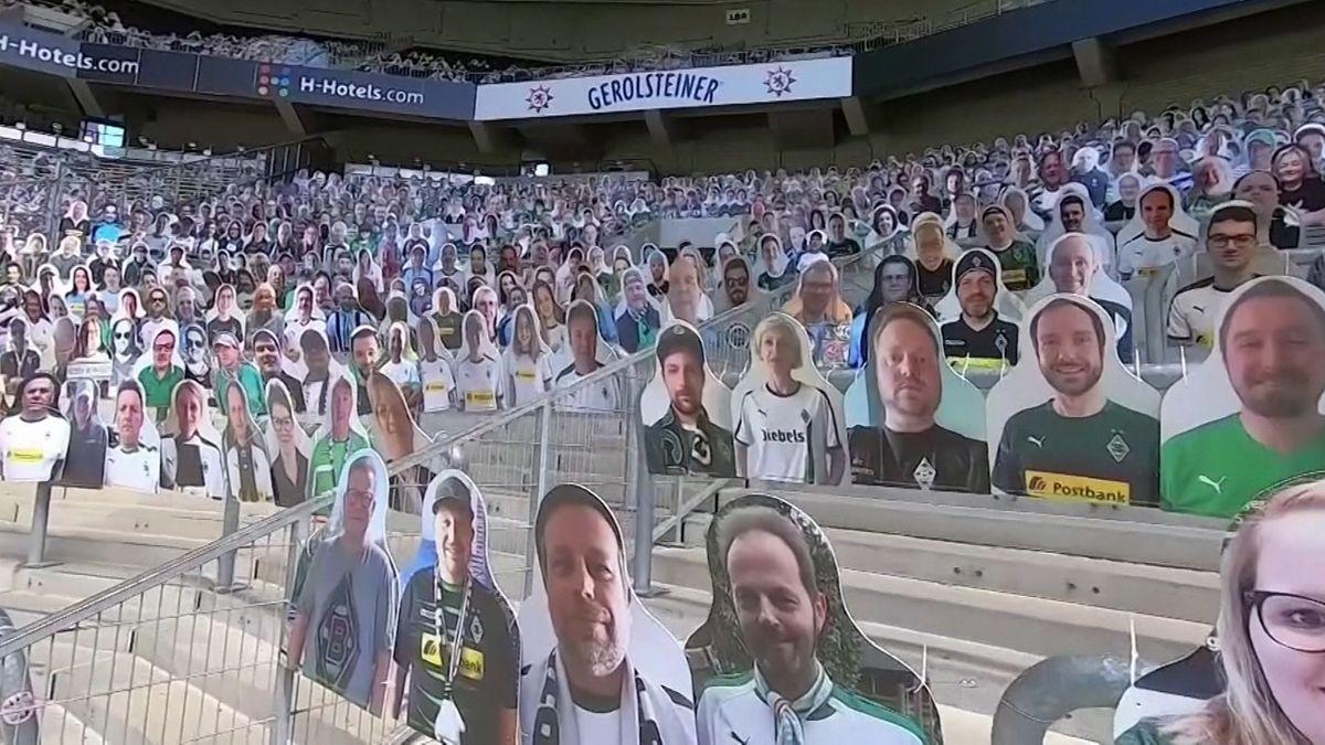 Pappfiguren statt Fans