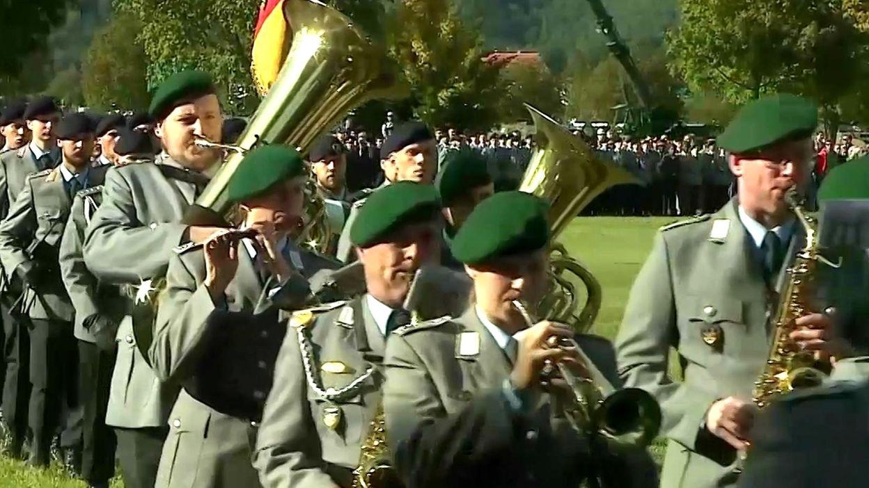 Offiziersanwärter-Vereidigung in Bad Bocklet