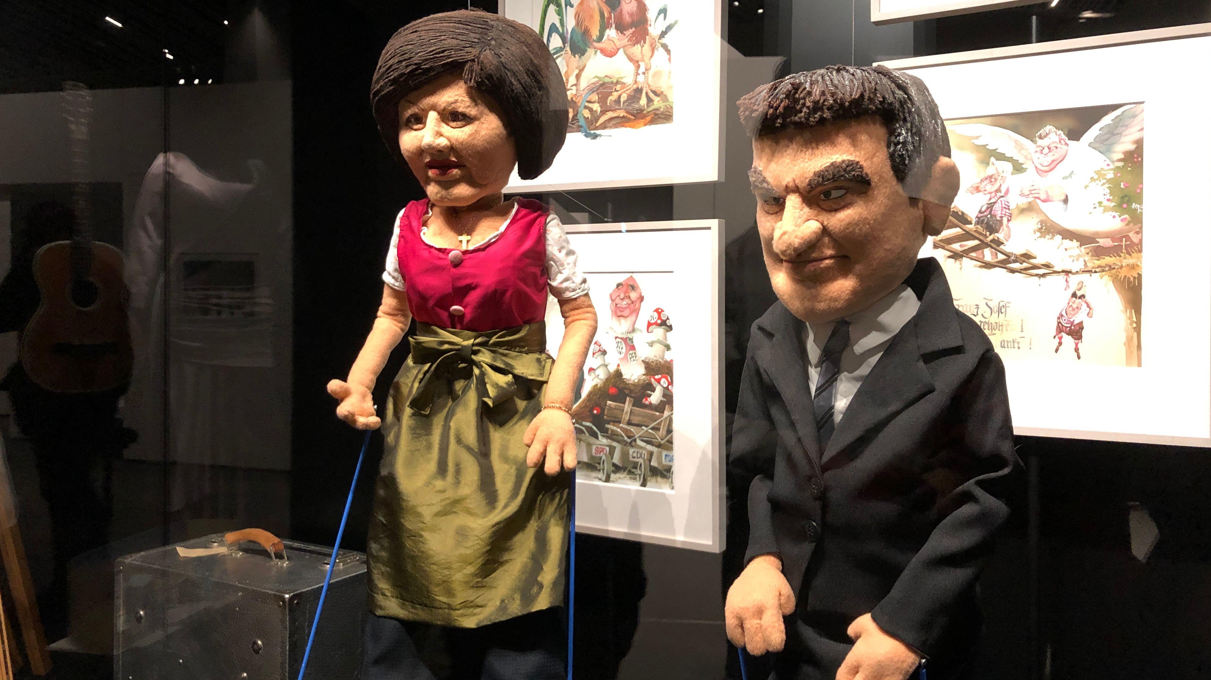 Die Quer-Marionetten Ilse Aigner und Markus Söder