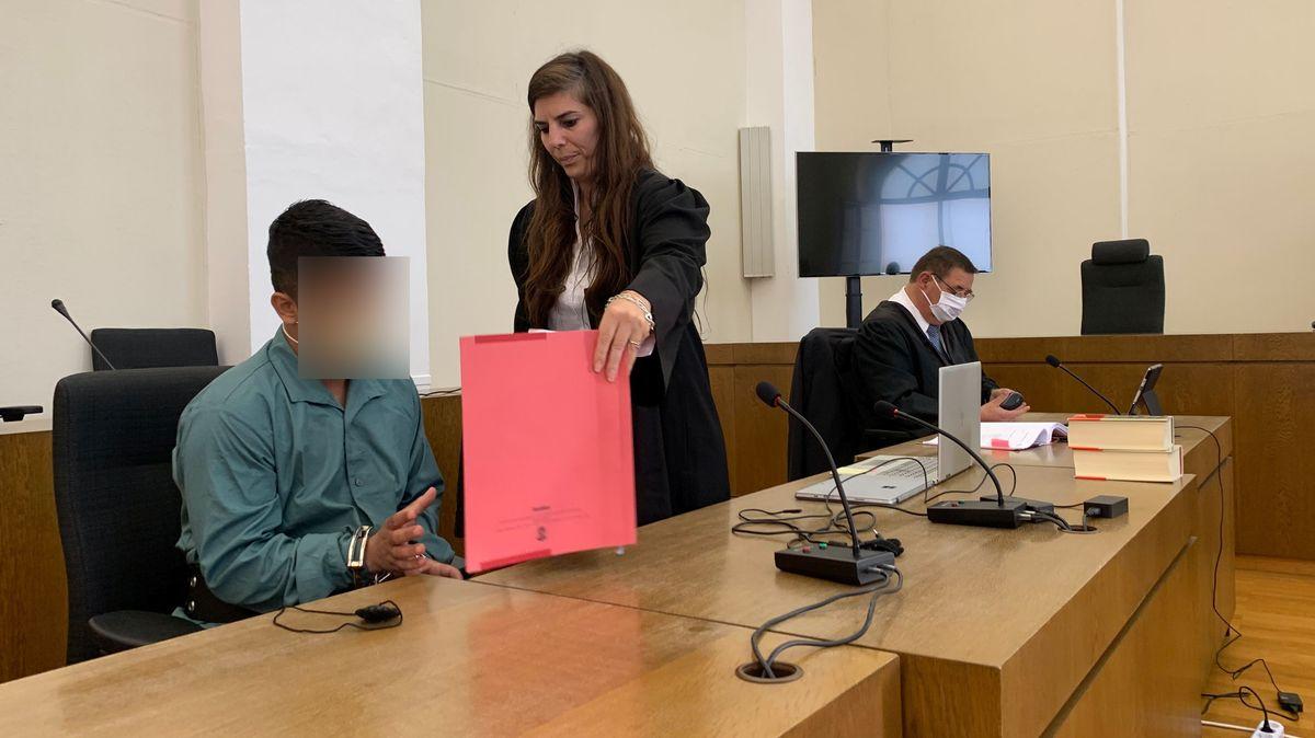 Der Angeklagte im Passauer Landgericht