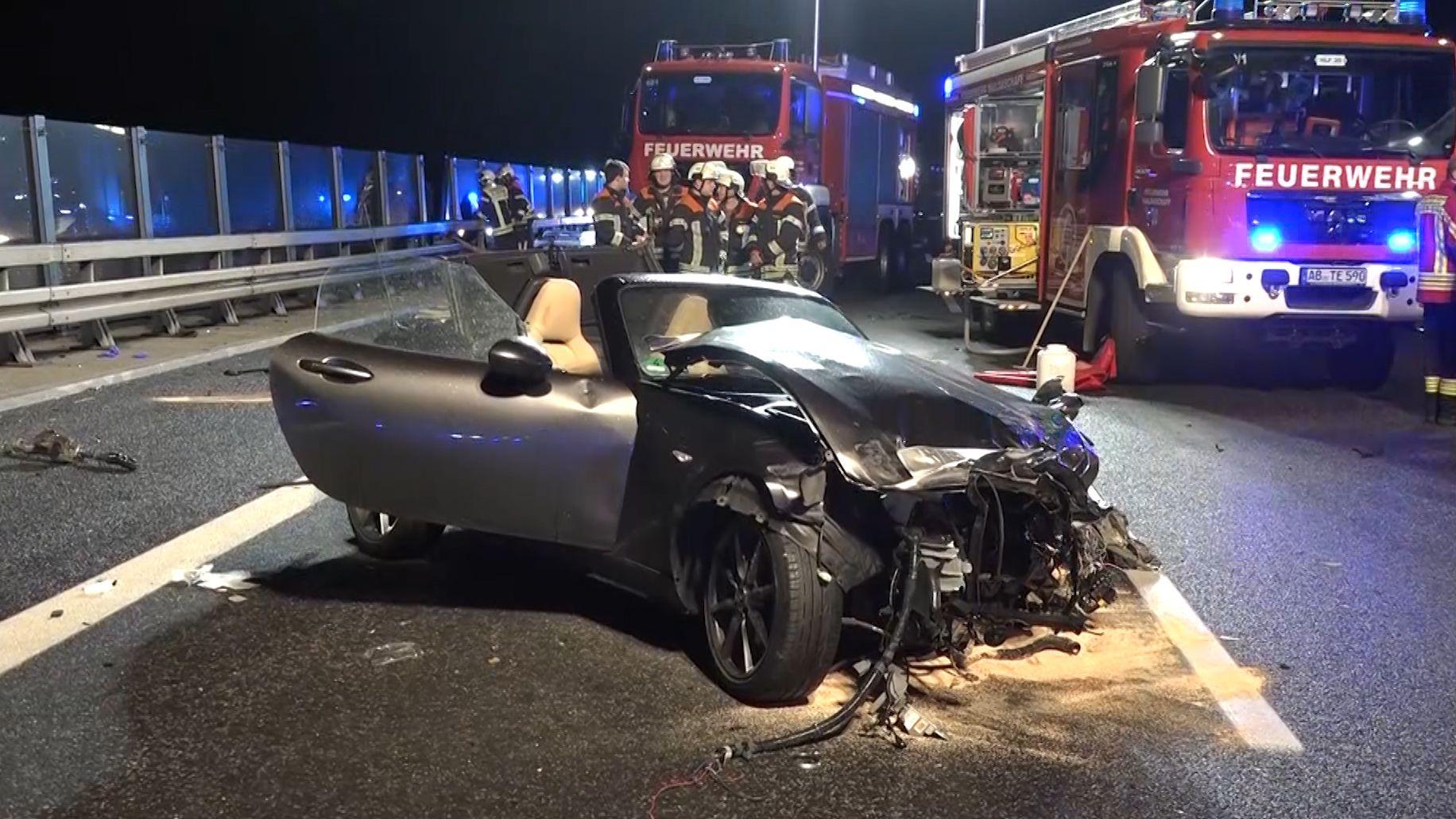 Verkehrsunfall an der Kauppenbrücke