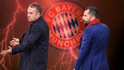 Hansi Flick (l.) und Hasan Salihamidzic   Bild:picture alliance/dpa