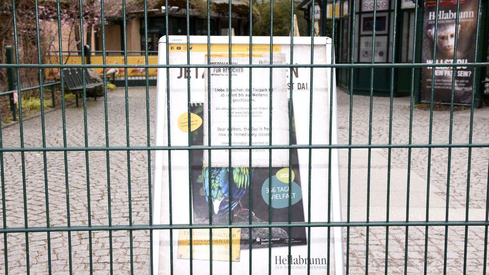 Der Tierpark Hellabrunn. Nach zuletzt beschlossenen Schutzmaßnahmen gegen die Ausbreitung des Corona-Virus kommt das öffentliche Leben in München   Bild:picture alliance / Geisler-Fotopress