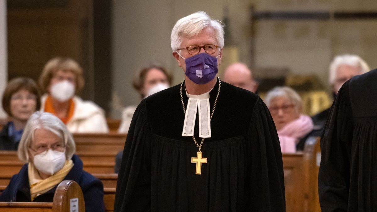 Landesbischof Heinrich Bedford-Strohm am 30.10.2020 bei einem Festgottesdienst.