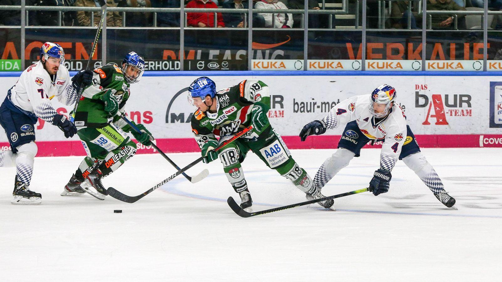 Eishockey: Siege für Augsburg und Straubing in Bayern-Derbys
