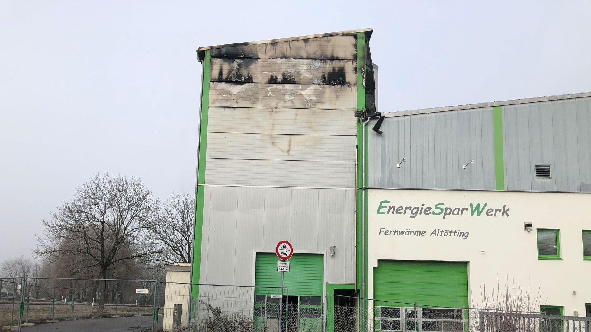 Hoher Sachschaden durch Brand in Altöttinger Fernwärme-Kraftwerk