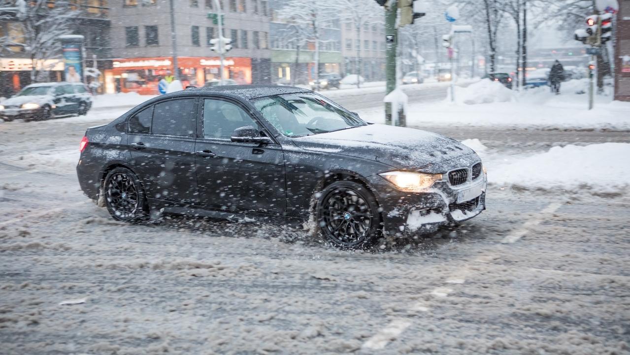 Schneefall in München