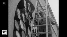 Christo bei einer Installation | Bild:BR Archiv
