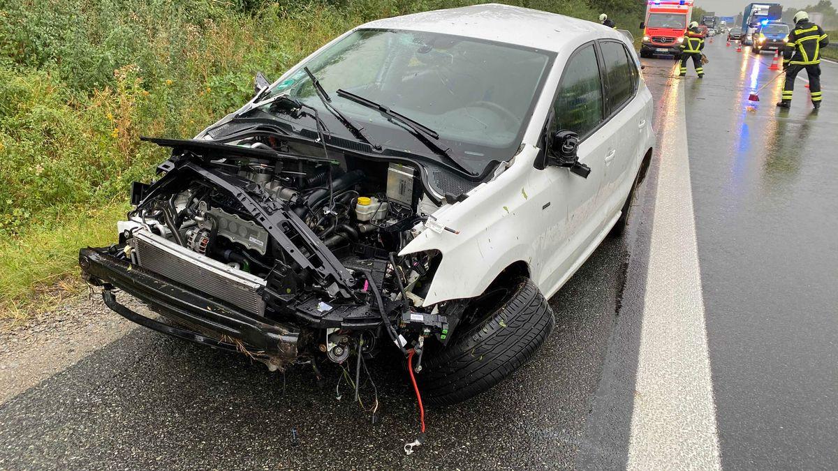 chwerer Verkehrsunfall auf der A70 zwischen dem Dreieck Werntal und der Anschlussstelle Schweinfurt/Bergrheinfeld