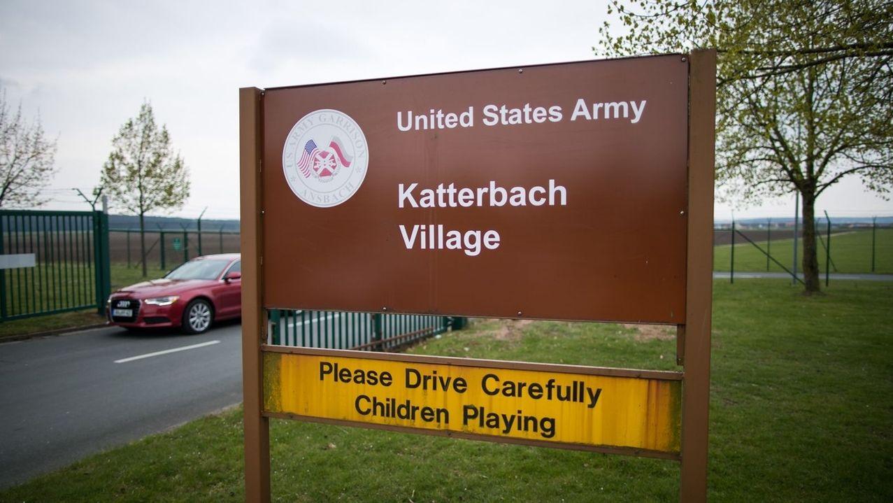 Blick auf das Gelände des Helikopter-Stützpunktes der US-Armee in Katterbach bei Ansbach