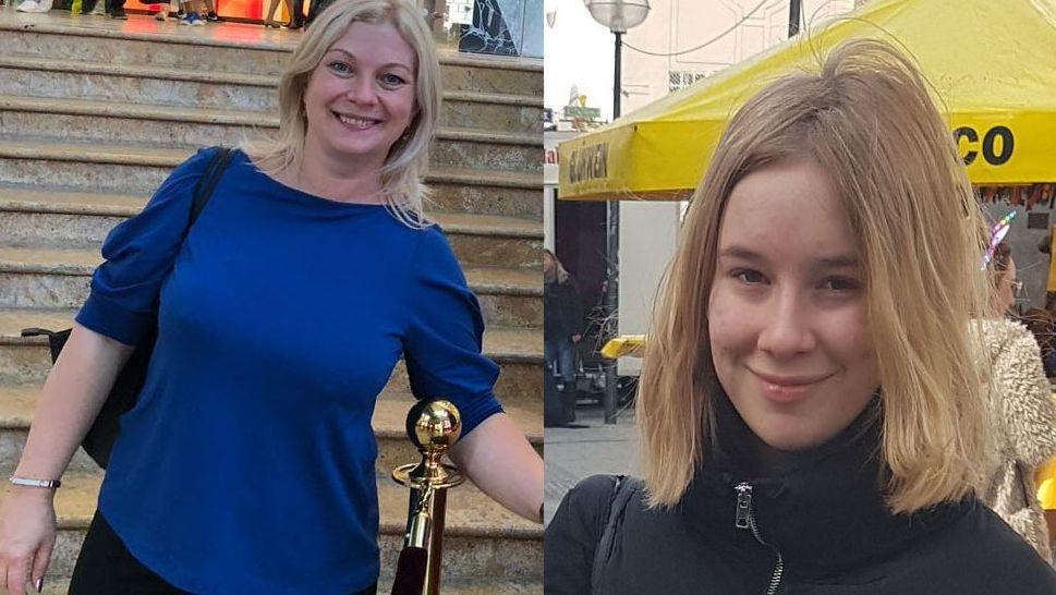 Sind vermisst: Maria (lks.) und ihre Tochter Tatiana Gertsuski