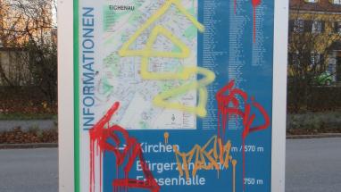 Wegweiser der Gemeinde EIchenau