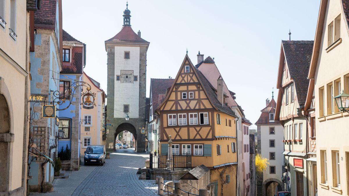 Rothenburg nach den Corona-Einschränkungen im April 2020