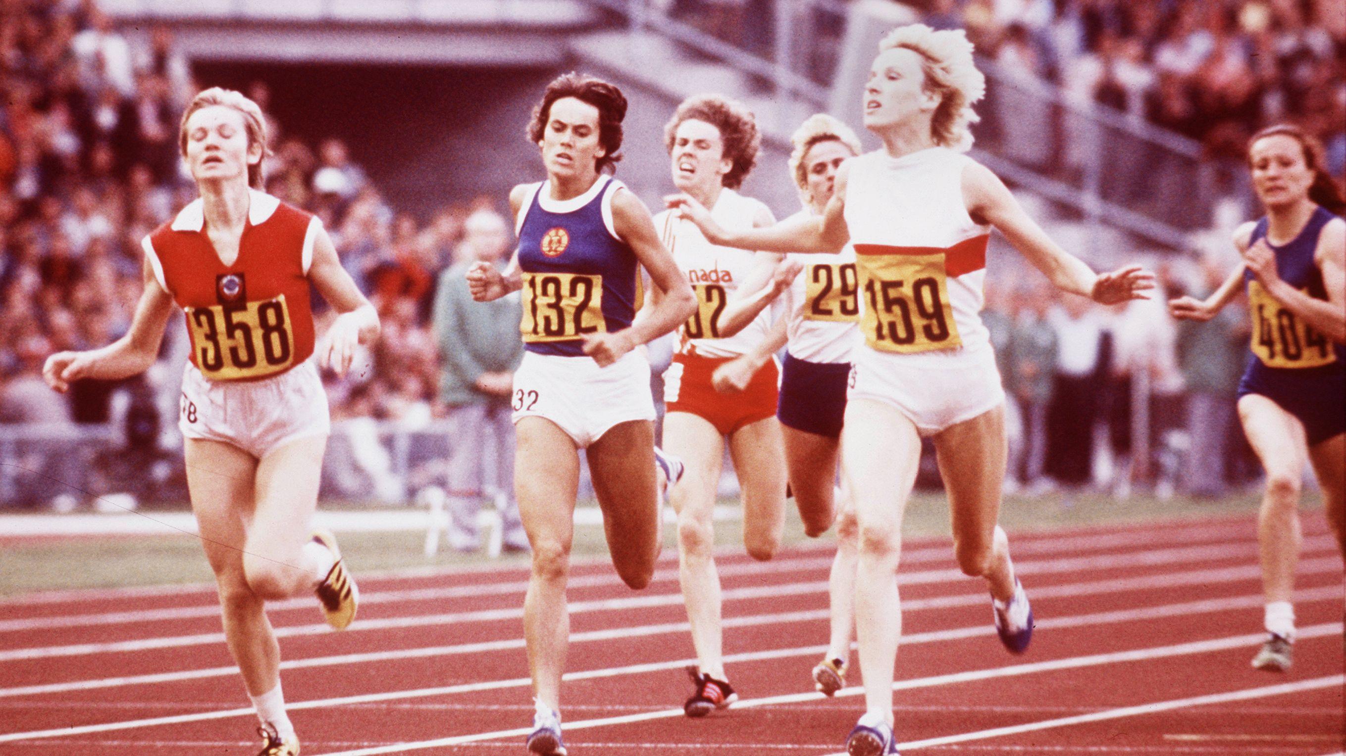 Zieleinlauf beim olympischen 800-Meter-Rennen der Frauen 1972
