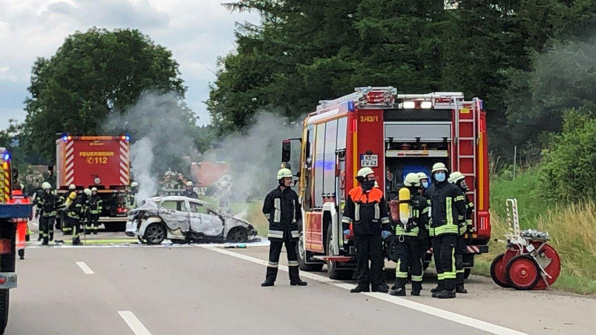 Unfall auf der A7 bei Überbach