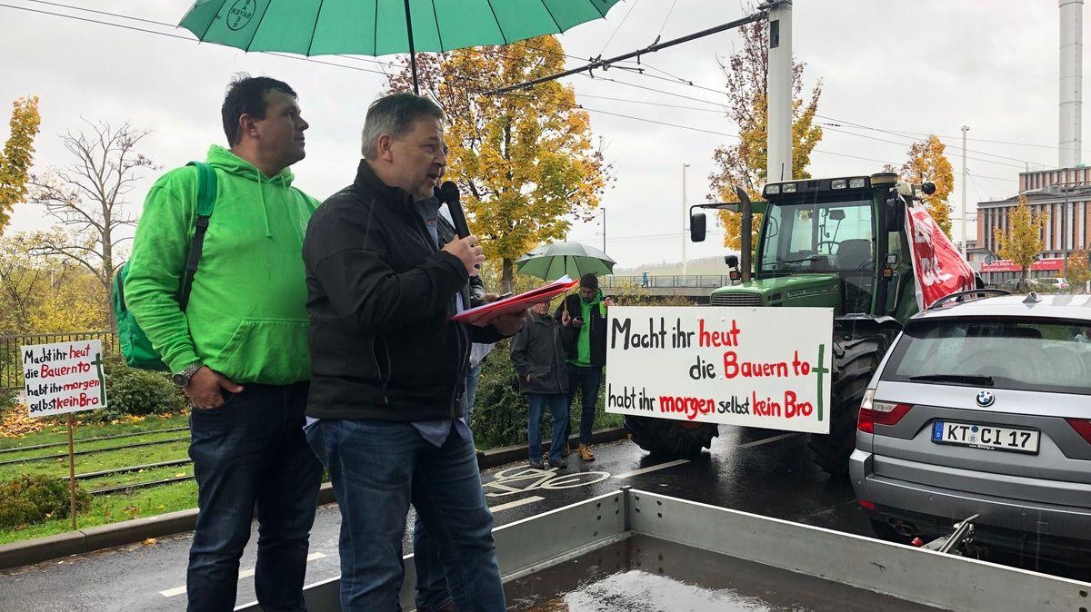 Landwirte protestieren in Würzburg