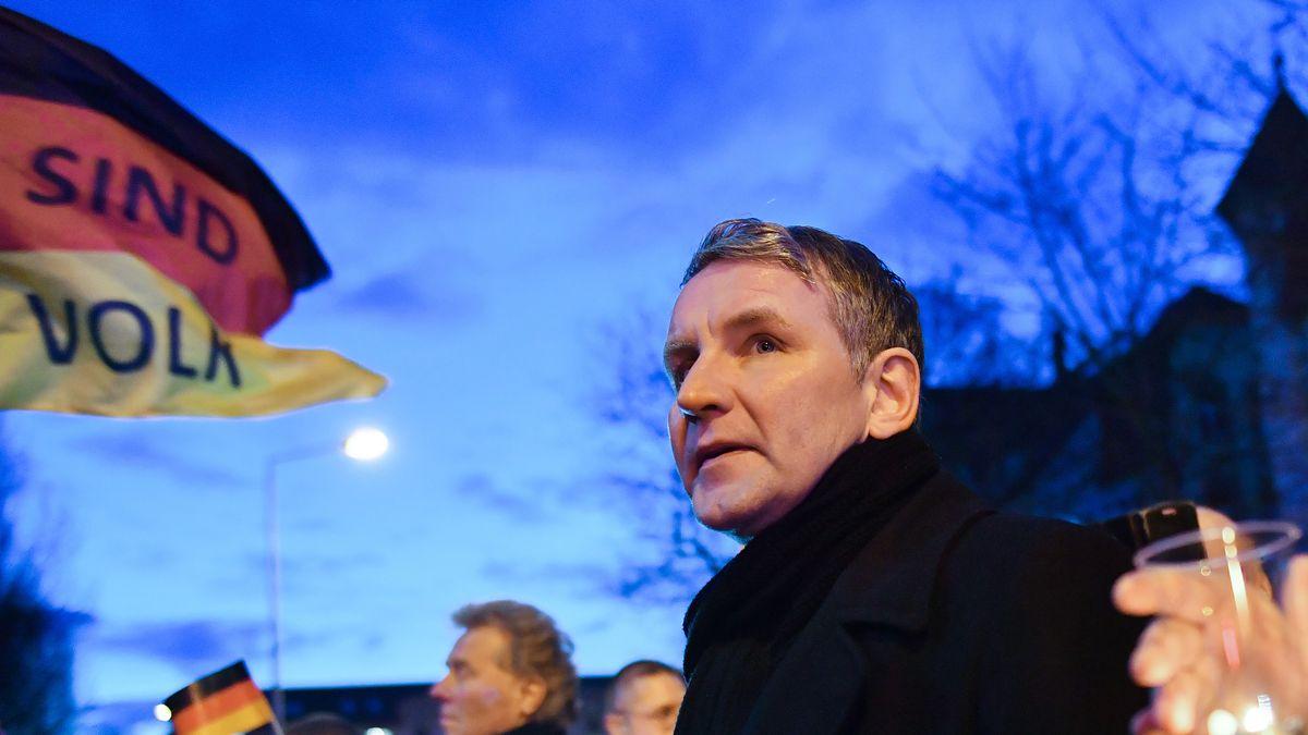 """Björn Höcke vom """"Flügel"""" bei einer AfD-Demonstration."""