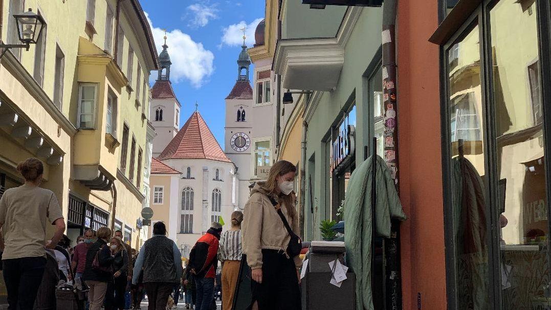 Bild von Fußgängerzone in Regensburg
