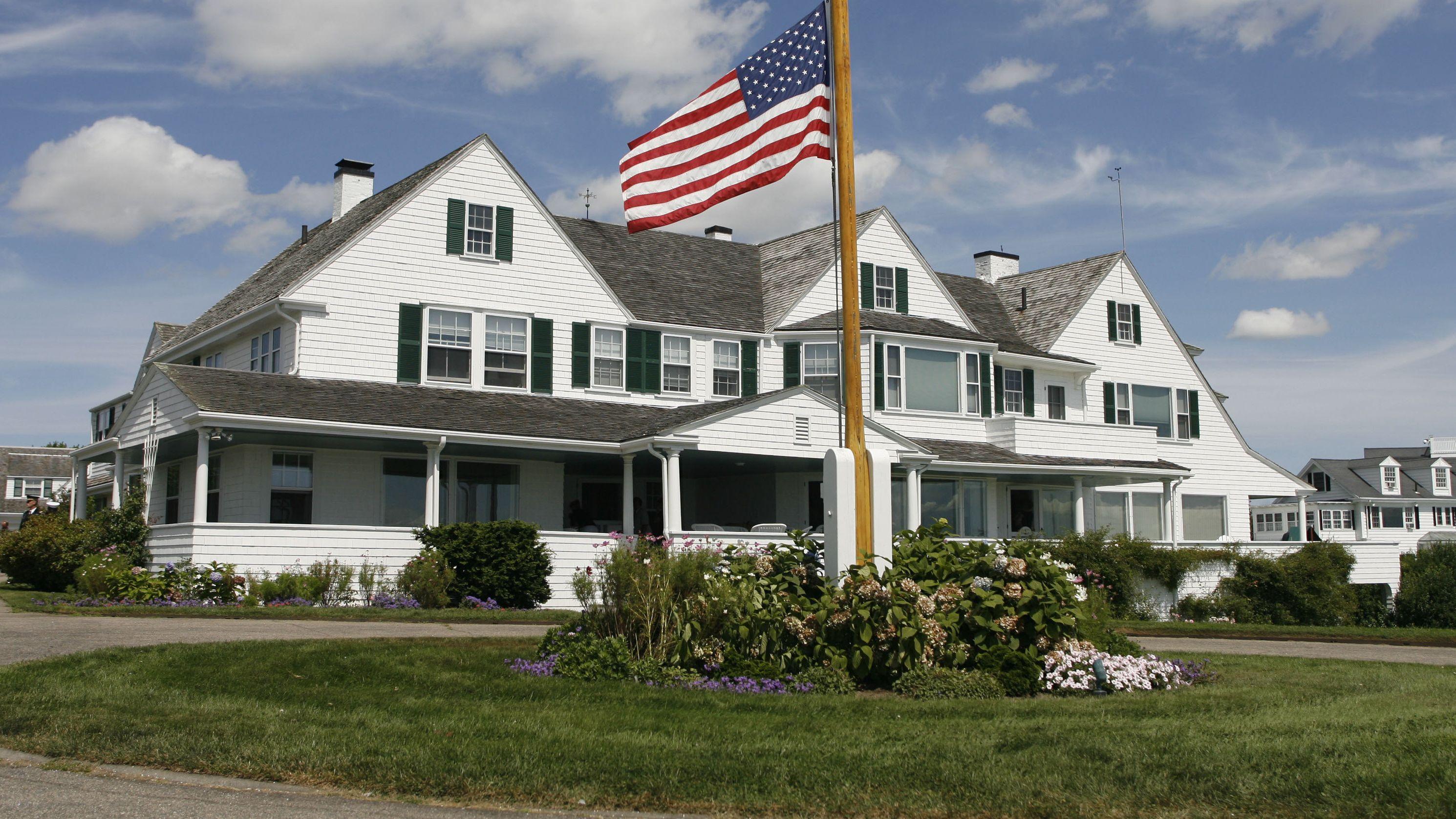 Archivbild: Das Haus auf dem Gelände der Familie Kennedy.