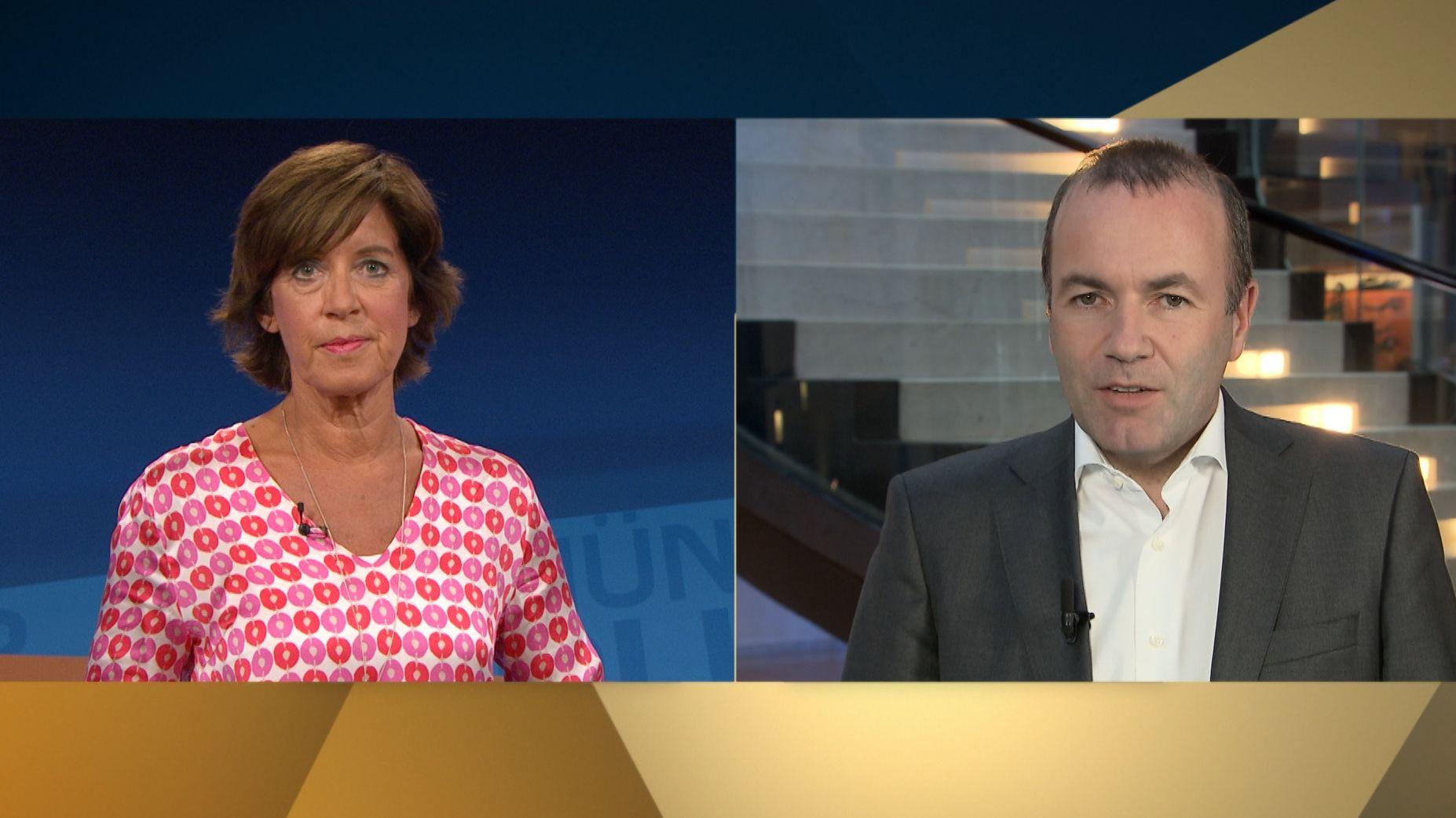 Ursula Heller und Manfred Weber in der Münchner Runde