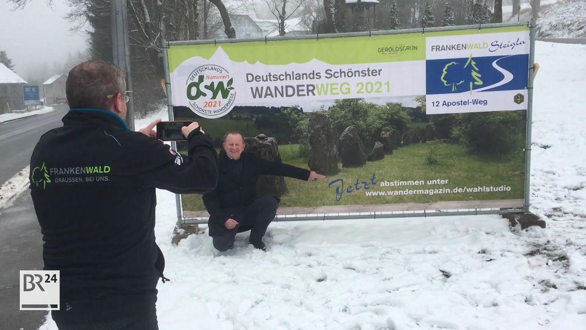 """Plakat """"Deutschlands schönster Wanderweg"""""""