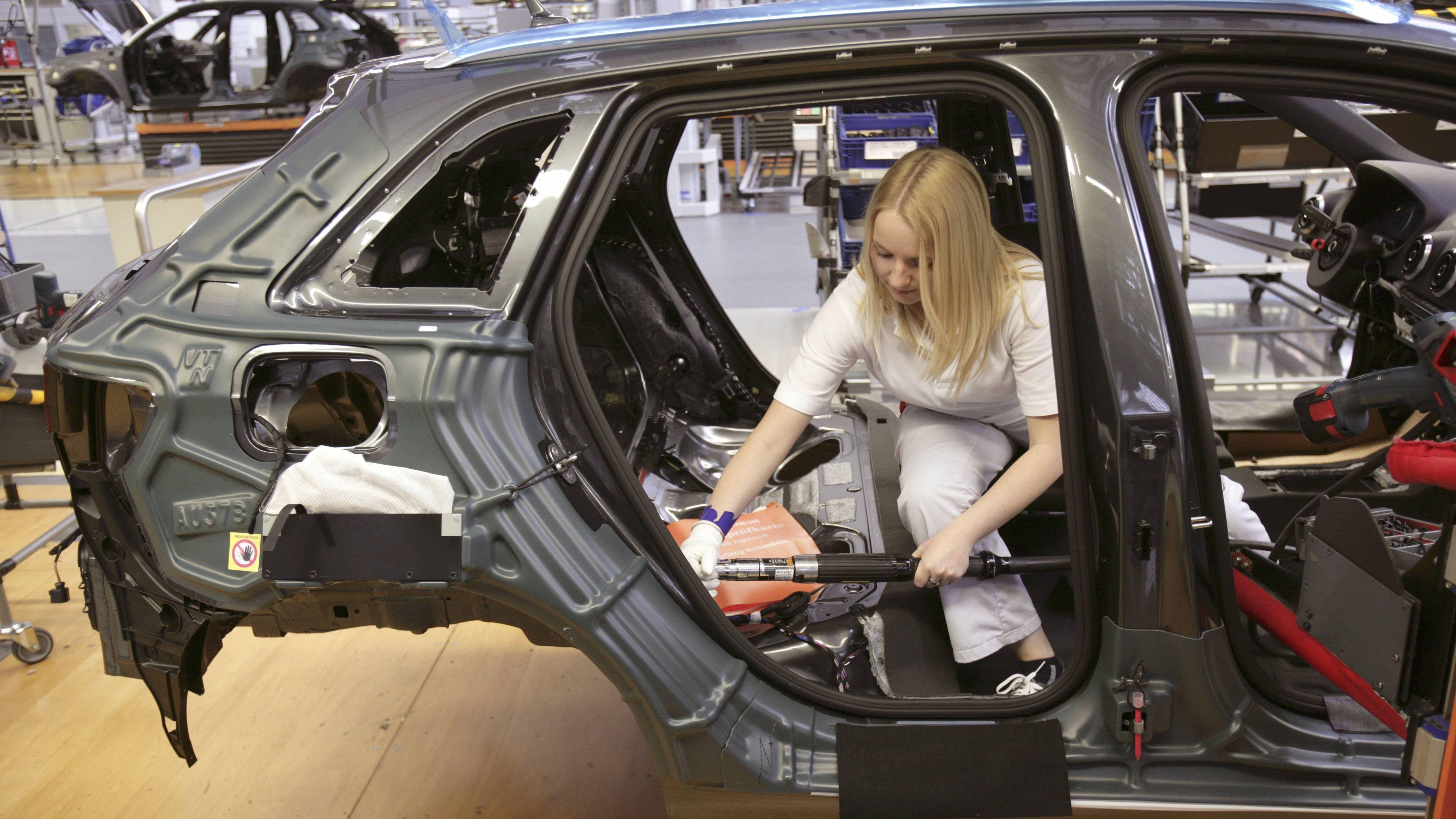 Produktion im Audi-Werk in Ingolstadt