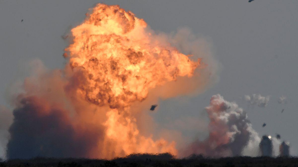Rakete von SpaceX explodiert