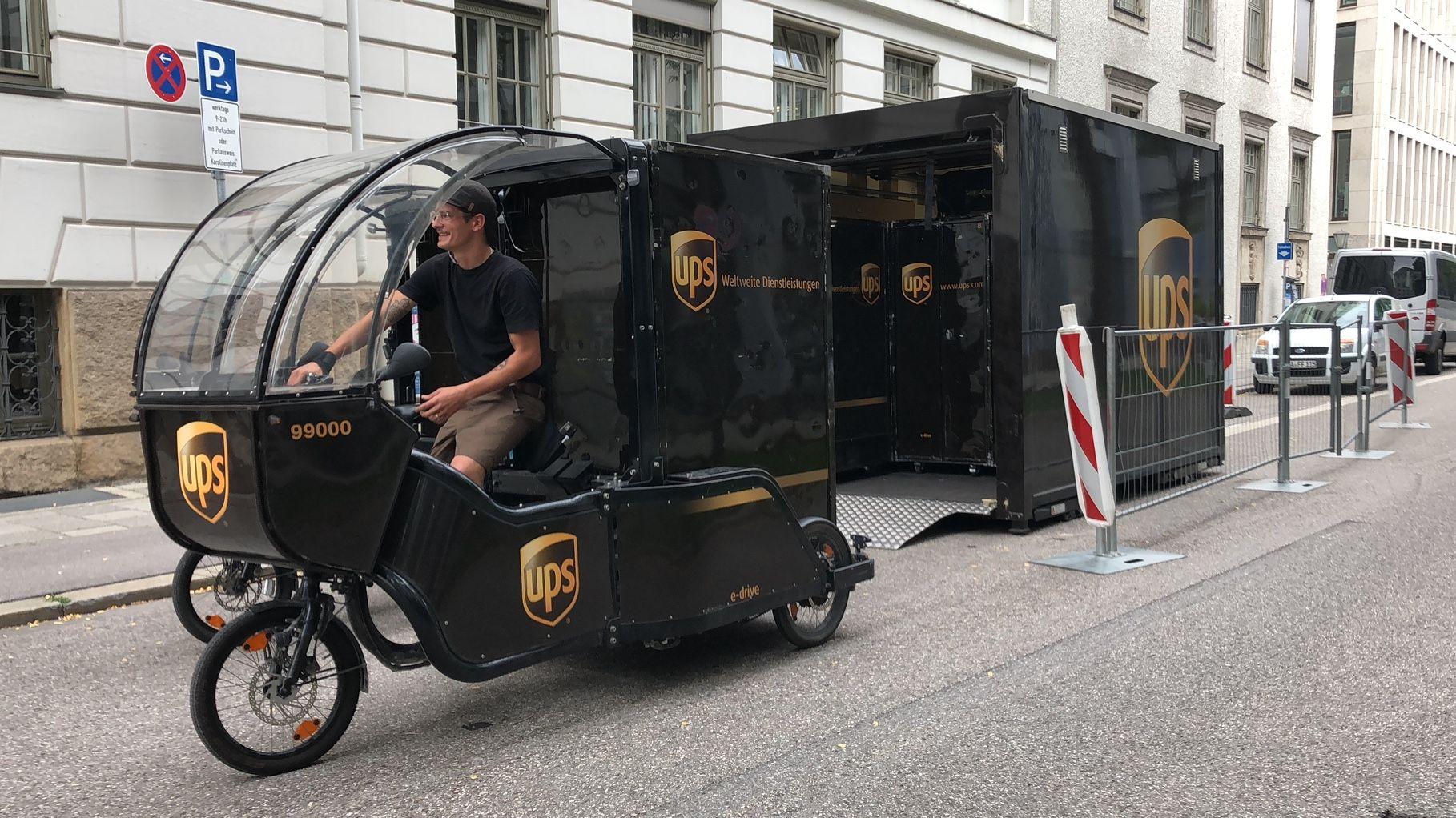 Lastenrad im Münchner Einsatz
