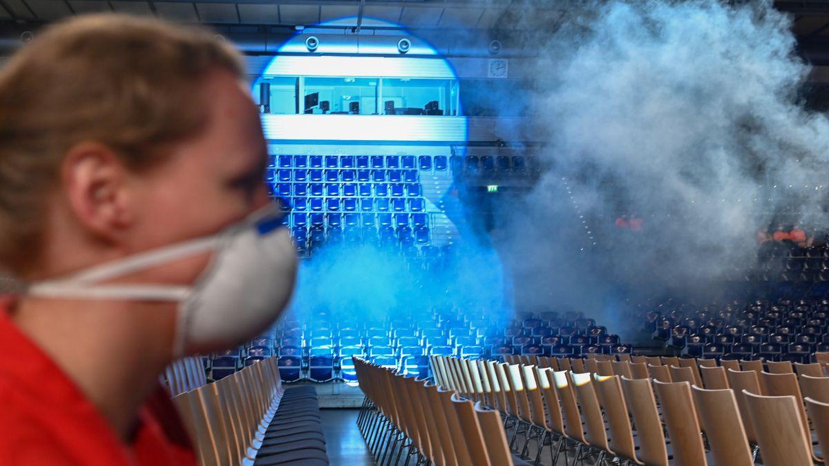Schwaden in der Arena Leipzig