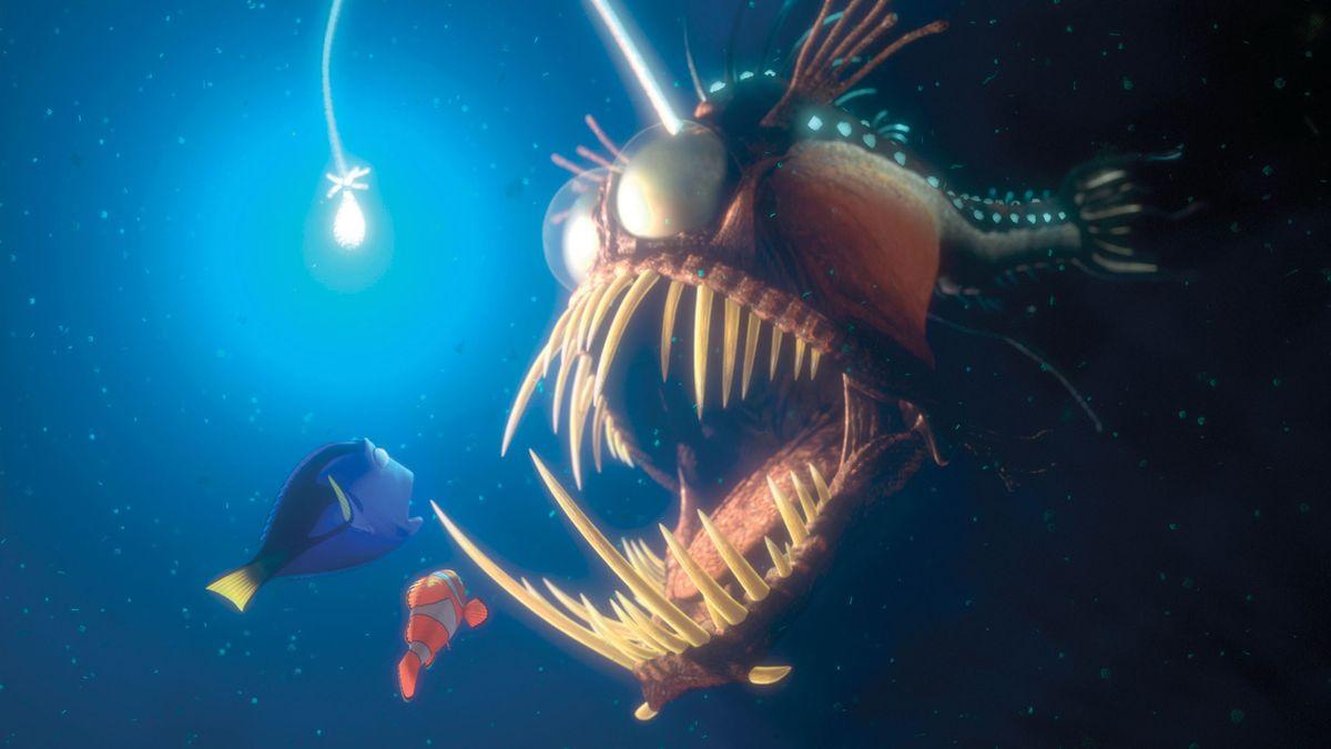 """Ein berühmter Anglerfisch aus dem Animationsfilm """"Findet Nemo""""."""