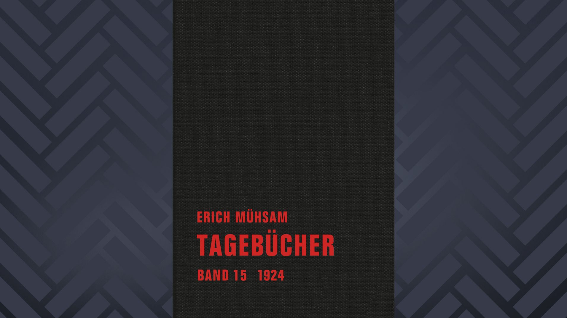 Buchcover Erich Mühsam, Tagebücher Band 15