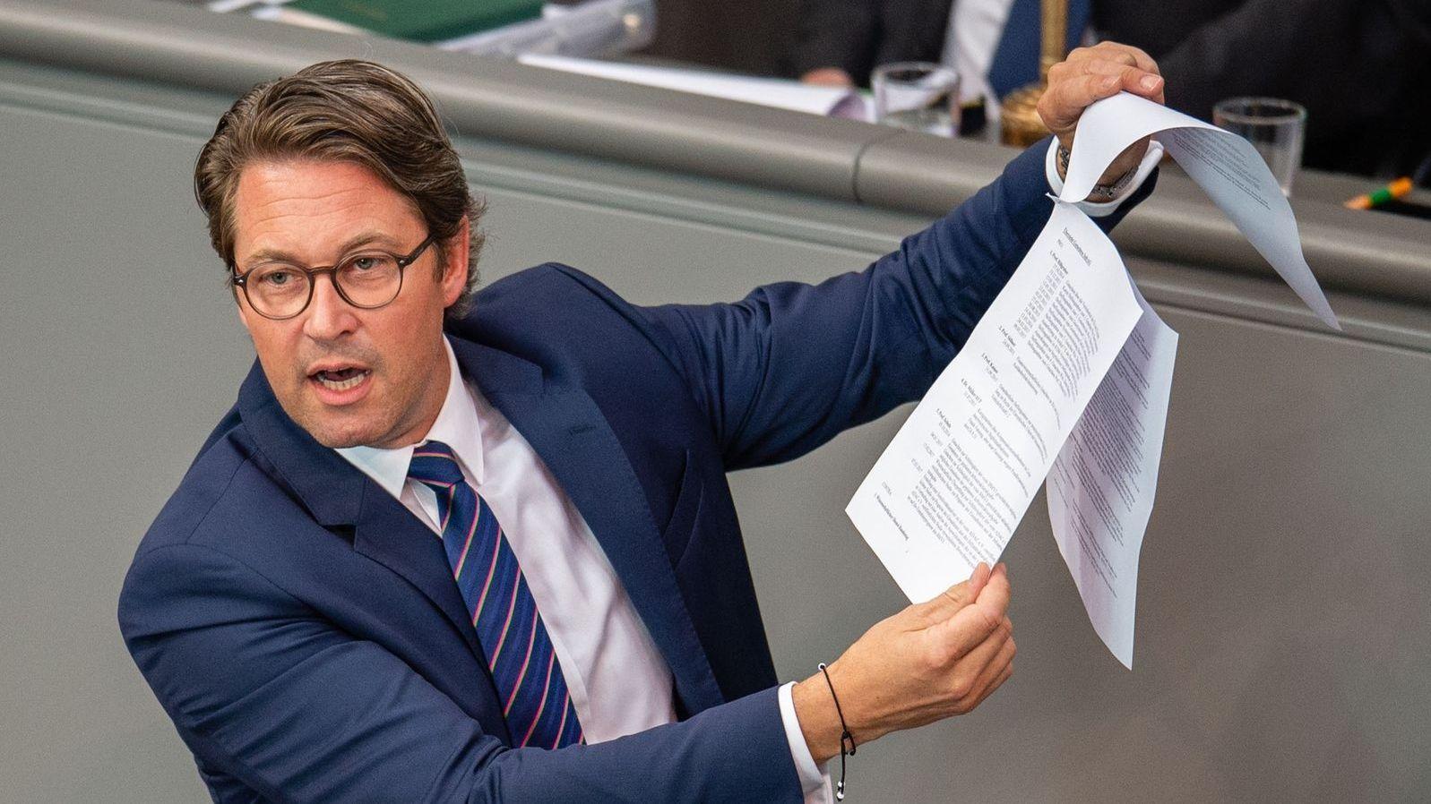 Hat falsch gerechnet bei der Pkw-Maut: Verkehrsminister Andreas Scheuer