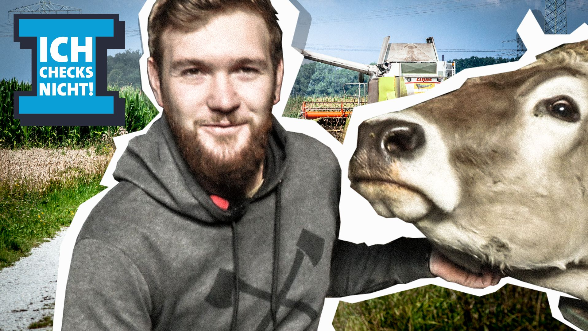 Bio-Bauer Christian Reichle aus dem Allgäu mit einer Kuh