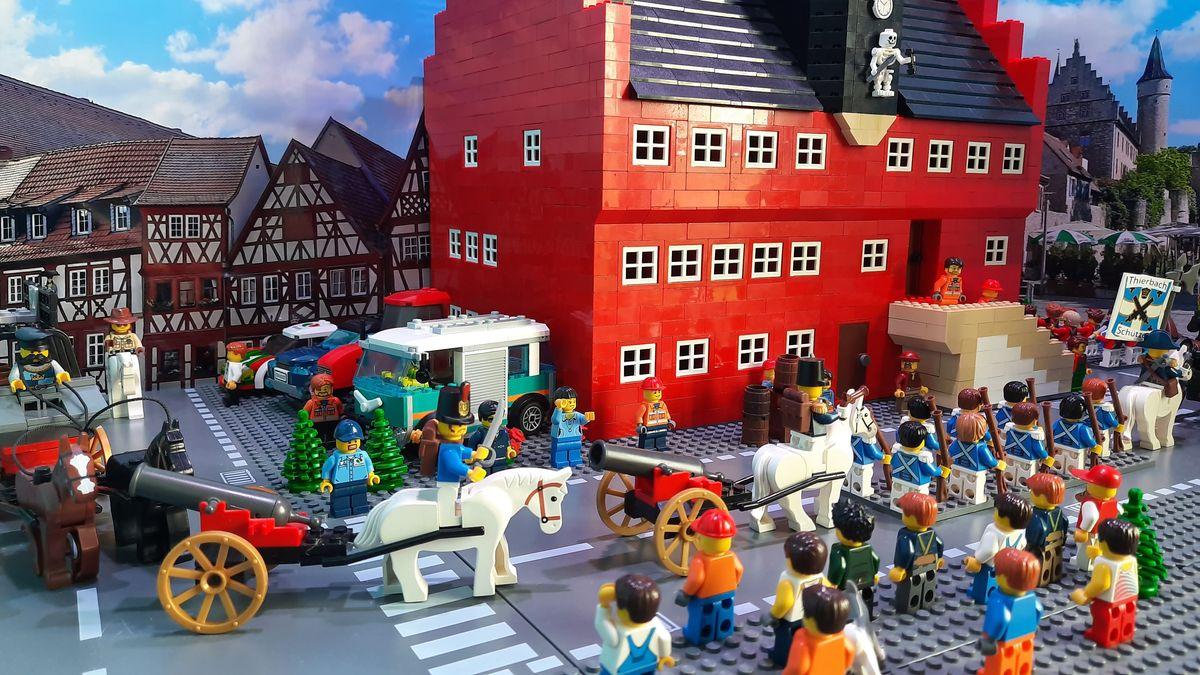 Ochsenfurter Pfingstritt aus Lego nachgebaut