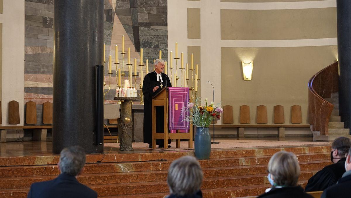 Heinrich Bedford-Strohm predigt in der Matthäuskirche in München