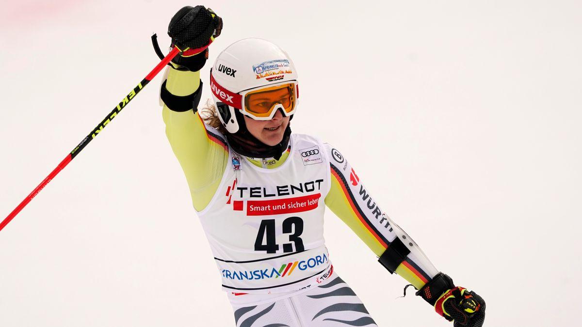 WM-Debütantin Andrea Filser in Cortina d'Ampezzo