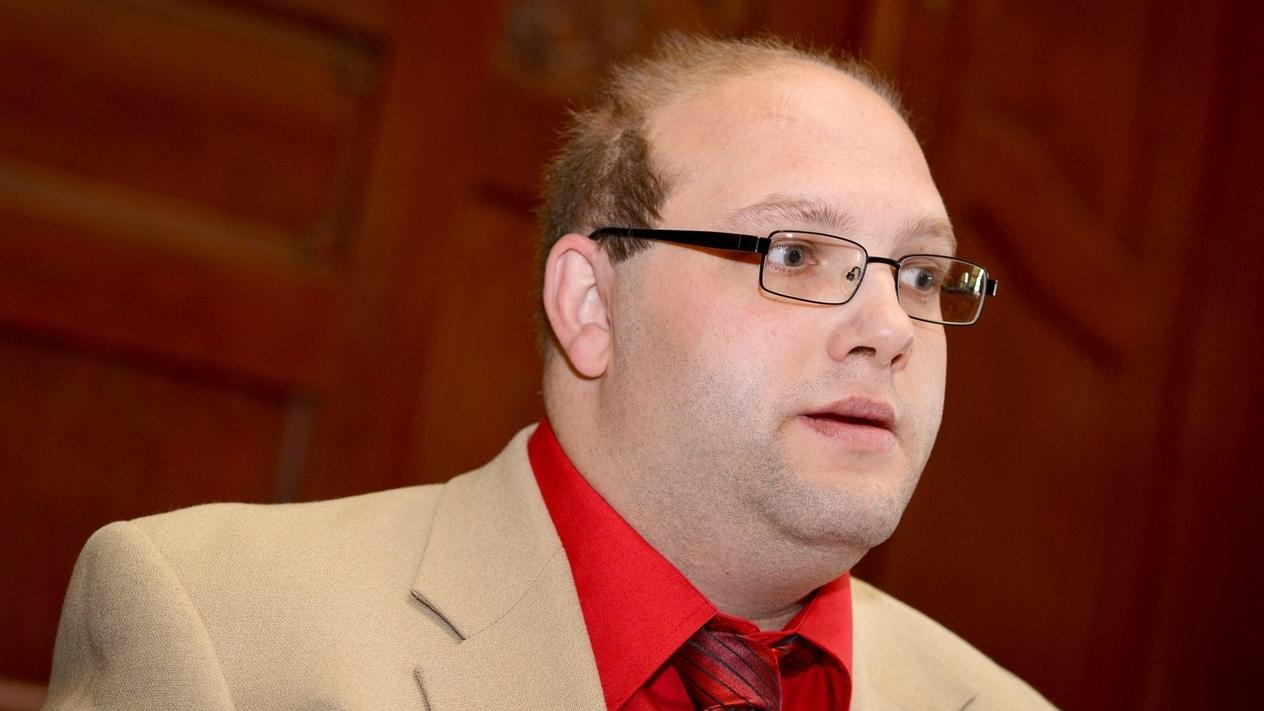 Ulvi K. beim Urteil im Peggy-Prozess am Landgericht Bayreuth am 14. Mai 2014